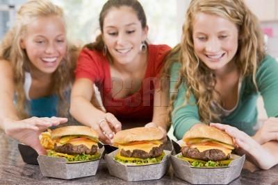 Teen eating habit think